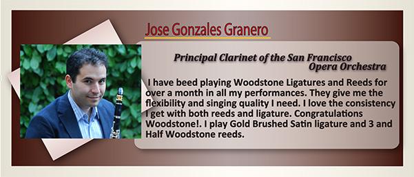 wood stone clarinet ligature Jose Gonzales Granero