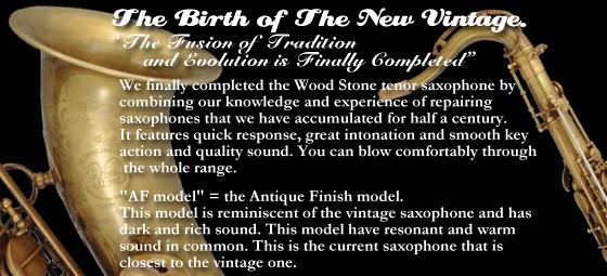 wood stone tenor saxophone