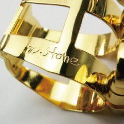 Photo3: Wood Stone Alto Saxophone Metal Ligature