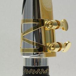 Photo4: Wood Stone Alto Saxophone Metal Ligature