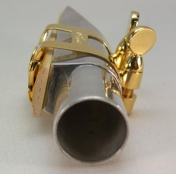 Photo3: Wood Stone Alto Saxophone Metal Ligature