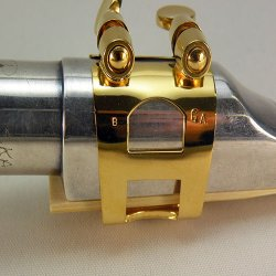 Photo2: Wood Stone Alto Saxophone Metal Ligature