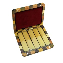 Photo3: Wood Stone Reed Case for Soprano ,Alto Saxophone